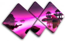 Japan PURPLE PINK Sunset Seascape - 13-0758(01C)-MP19-LO